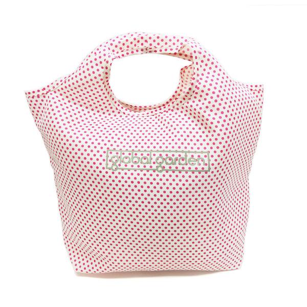 水玉柄トートバッグ・ピンク